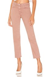 Ag Adriano Goldschmied High Waisted Isabelle 1 Year Sulfur Industrial Mauve
