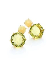 Ippolita Rock Candy Yellow Opal Green Gold Citrine And 18K Yellow Gold Stud Earrings