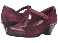 Earth Wanderlust Rosewood Soft Calf Leather Women's Shoes Red