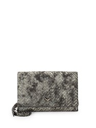 Botkier Soho Leather Convertible Clutch Grey