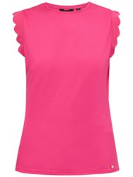 Ted Baker Scallop Detail Fitted T Shirt Fuchsia