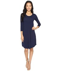 Mod O Doc Cotton Modal Spandex Jersey Crescent Empire Seam Dress True Navy Women's Dress