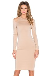Rise Royals Only Cut Out Midi Dress Tan
