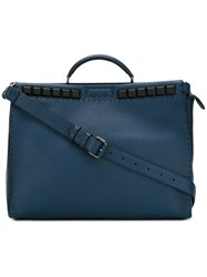 Fendi Large Tote Bag Blue