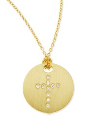 Cross Medallion Roberto Coin Yellow Gold