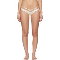 Kiki De Montparnasse White Bridal Cage High Waisted Briefs