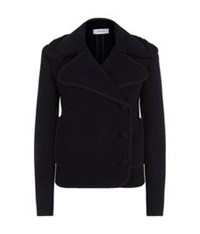 Carven Short Wool Jacket Navy