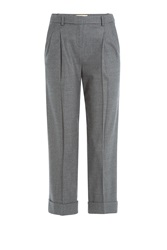 Michael Kors Cropped Wool Pants Grey