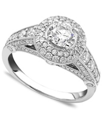 Macy's Engagement Ring Diamonds 1 1 4 Ct. T.W. And 14K White Gold