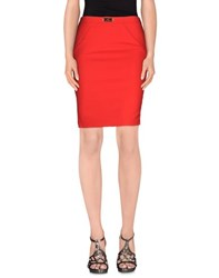Elisabetta Franchi 24 Ore Skirts Knee Length Skirts Women Red