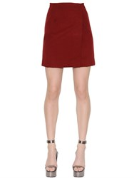 Ermanno Scervino Double Wool Wrap Over Mini Skirt