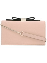 See By Chloe 'Nora' Bow Clutch Bag Women Cotton Leather One Size Pink Purple