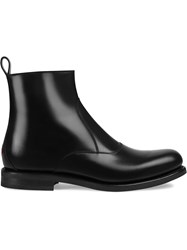 Gucci Bee Detailed Chelsea Boots Black