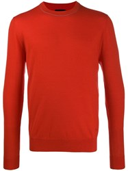 Paul Smith Ps Crew Neck Sweater Red