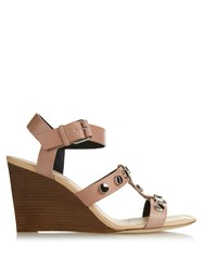 Balenciaga Stud Embellished Leather Wedge Sandals
