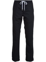 Second Layer Drawstring Tapered Trousers Black