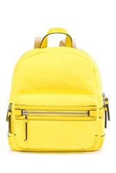 Vince Camuto Patch Nylon Mini Backpack Yellow 01