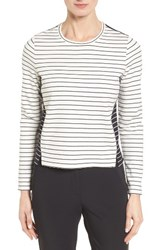 Nordstrom Women's Collection Mix Stripe Top
