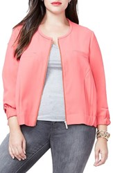 Rachel Roy Plus Size Women's Zip Front Bomber Jacket