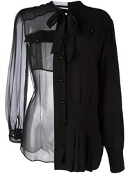 Maison Martin Margiela Sheer Bow Detail Shirt Black