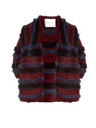 Sonia Rykiel Striped Rabbit Fur Stole
