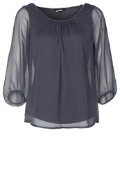 Comma Blouse Black Anthracite