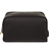 Mulberry Leather Wash Bag Black