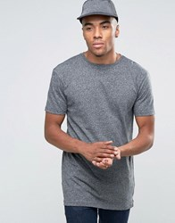 New Look Longline T Shirt In Grey Grey Grindle