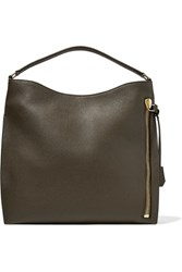 Tom Ford Alix Large Textured Leather Tote Army Green