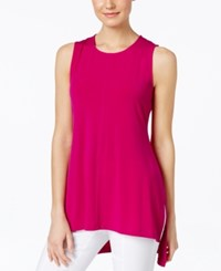 Alfani Sleeveless High Low Top Only At Macy's Modern Orchid