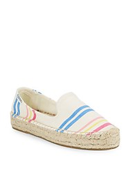Soludos Striped Round Toe Loafers Natural