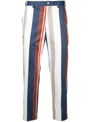 Guild Prime Striped Cropped Trousers White