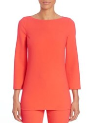 Michael Kors Boatneck Stretch Wool Blouse