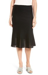 Ming Wang Women's Knit Flared Skirt Black