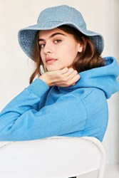 Urban Outfitters Reversible Denim Bucket Hat Blue