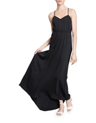 Tracy Reese Shirred Waist Maxi Dress Black