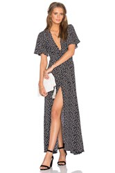 Privacy Please Plaza Kimono Dress Black And White