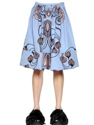 Antonio Marras Printed Jersey And Jacquard Bubble Skirt