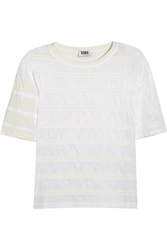 Sonia Rykiel Striped Faille And Jersey T Shirt