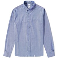 Bedwin And The Heartbreakers Button Down Brian Oxford Shirt Blue