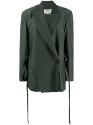 Acne Studios Double Breasted Tailored Jacket Green