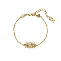 Biba Gold Single Chain Emblem Bracelet