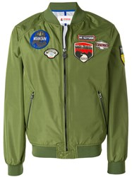 Invicta Patch Bomber Jakcet Green