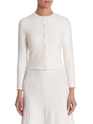 Ralph Lauren Ribbed Wool Cardigan Ivory