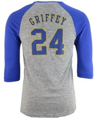 Majestic Men's Ken Griffey Jr Seattle Mariners Coop Player Entry Raglan T Shirt Gray Royalblue