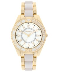 Styleandco. Style And Co. Women's White And Gold Tone Bracelet Watch 38Mm 10022652