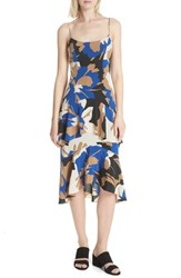 Tracy Reese Flounced Print Slipdress Neutral Floral