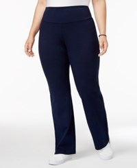 Styleandco. Style Co Plus Size Tummy Control Bootcut Yoga Pants Industrial Blue