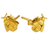 Alex Monroe Bee Stud Earrings Gold