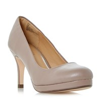 Linea Apley Platform Court Shoes Taupe